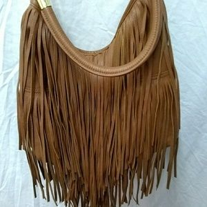 H & M faux leather fringe crossbody bag